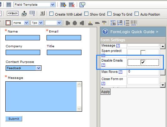 Formlogix Data Entry Email Alerts Best Online Web Form Builders